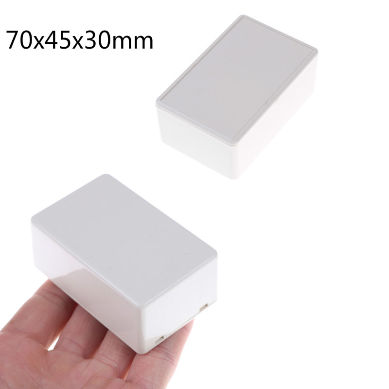 White DIY Housing Instrument Case Plastic Electronic Project Box Junction Box Electric Supplies 70x45x30mm