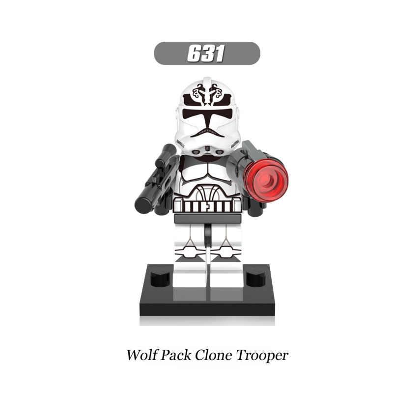 Singola Vendita Super Heroes star Wars 631 wolf pack clone trooper Building Blocks Figura Giocattoli dei Mattoni del regalo Compatibile Legoed Ninjaed