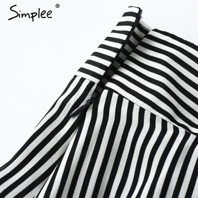 Simplee Vintage zipper short high waist shorts women Ruffle bow shorts bottom Striped sexy mini shorts summer beach culotte