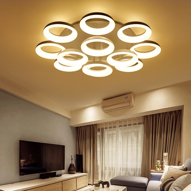 Aliexpresscom Buy Euignis 110 220v Modern Ceiling Light Luces Led - Luces-led-para-casa