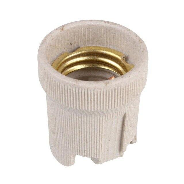 Lamp Holder Screw E27 Ceramic Socket Bulb Base Holder for