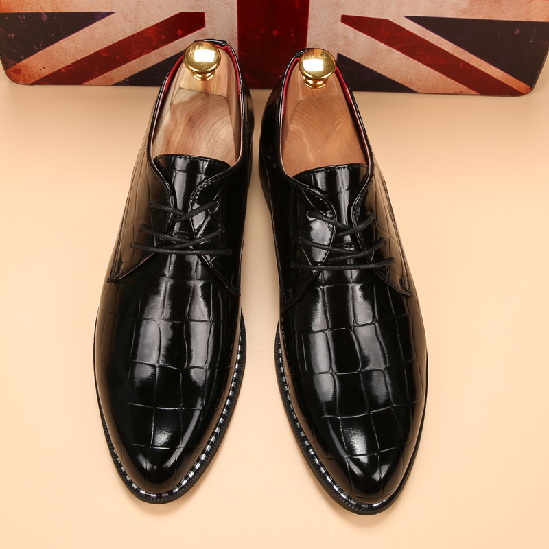 glossy dress shoes white flat wedding shoes patent leather loafers mens shoes luxury brand italian (6)