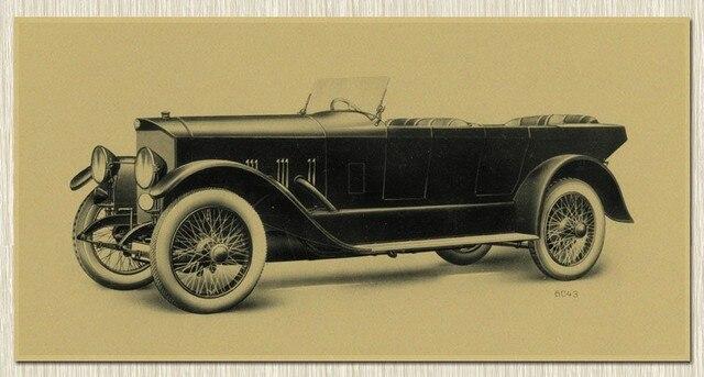 Retro Art Woonkamer : Nostalgie retro kraftpapier filmposters klassieke auto woonkamer