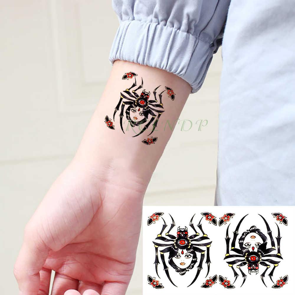 Etiqueta Do Tatuagem Temporária à prova d' água 3D Assustador terrível Aranha Tatoo Tatto Falso Flash Tatouage Wrist Pé de Mão Para Os Homens Das Mulheres Da Menina