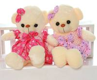 High Quality Low Price Plush Toys Size 45CM Wear Dress Teddy Embrace Bear Doll Lovers Christmas