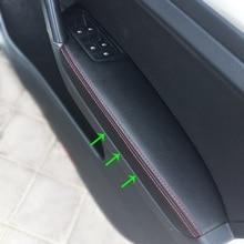 RHD For VW Golf 7 2014 2015 2016 4pcs Car Door Armrest Panel Microfiber Leather Cover Trim