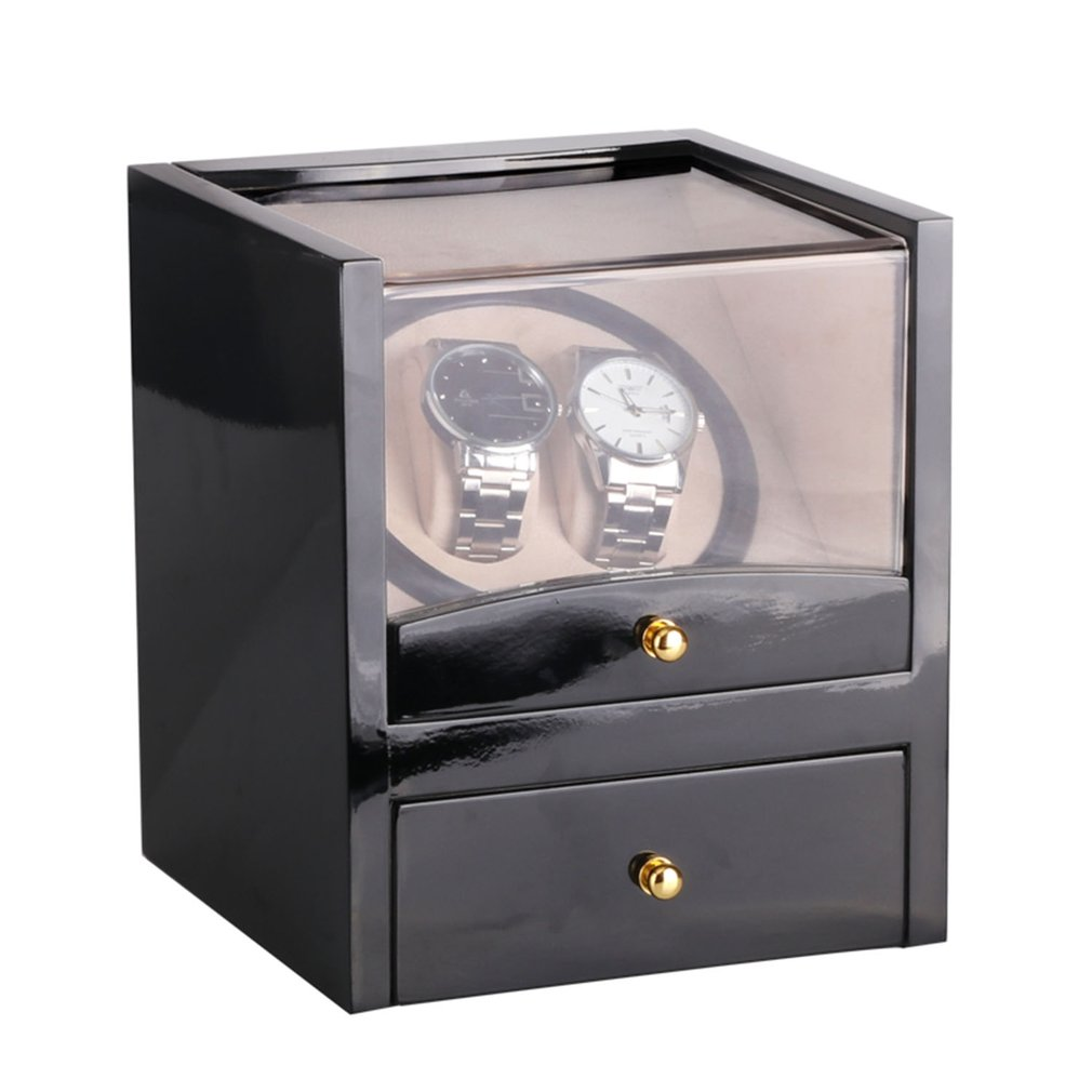 US/EU/AU/UK Plug Automatic Mechanical Black Luxury Watch Winder High Class Motor Shaker Watch Holder Display Jewelry Watch BoxUS/EU/AU/UK Plug Automatic Mechanical Black Luxury Watch Winder High Class Motor Shaker Watch Holder Display Jewelry Watch Box