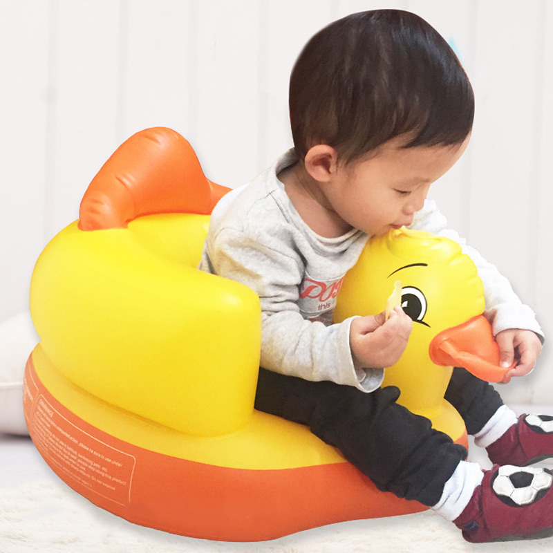 2019 New Multifunctional Inflatable Duck Toys Eco-friendly Wear-resistant Ergonomic Baby Toy