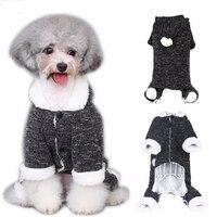 Beste Winter Warm Hond Kat Hoodie Fleece Coat Puppy Kitten Kerst Trui Jumpsuit Kitty Kleding Kleding Pet Kostuum