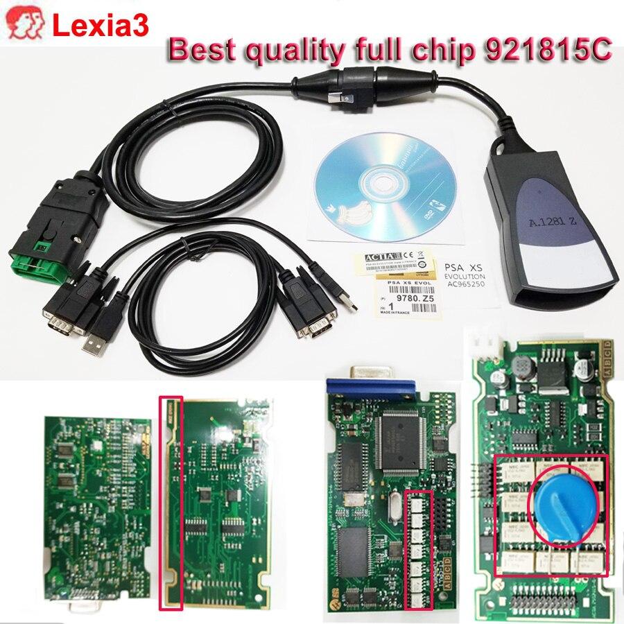 Volle chip FW 921815C Lexia3 PP2000 Lexia3 V48 pp2000 V25 Diagnose-Tool Diagbox V7.83 lexia-3 psa diagnose werkzeug für c-itroen