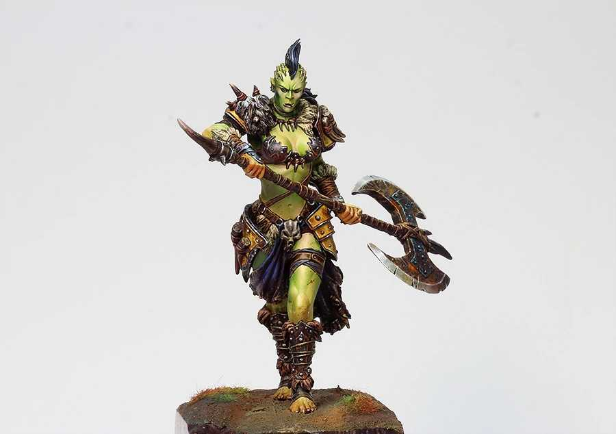 1/24 Scale Fantasy Female Orc 75MM Unpainted Resin Model Kit figure Free Shipping
