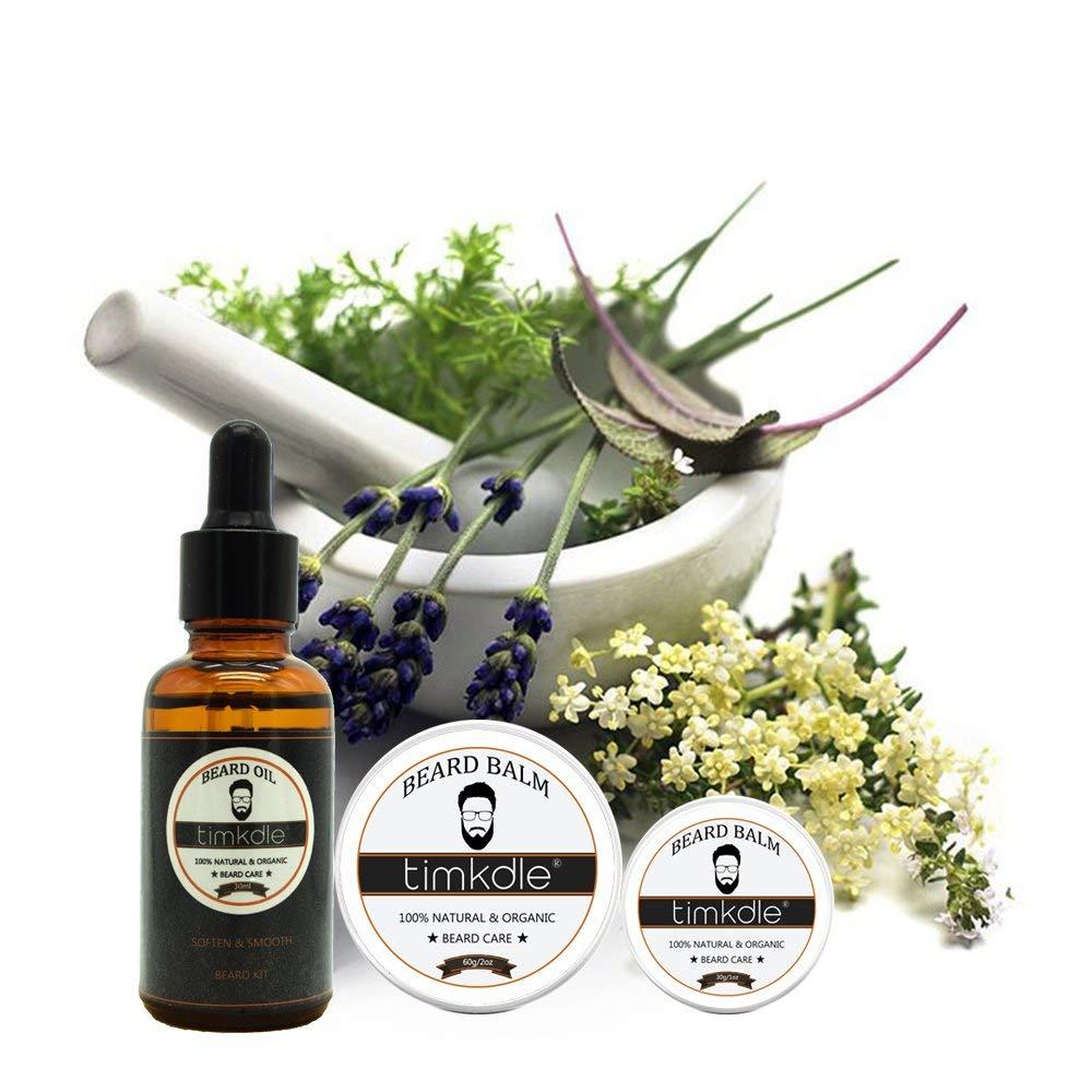 Купить с кэшбэком Timkdle Men Moustache Care Set Soften Beard Oil Beard Grooming Balm Anti-itch Oil Beard Massage Nutritional oil and balm