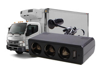 Good Heat Dissipation High Power Truck Socket And Usb 24 V To 12 V Truck On