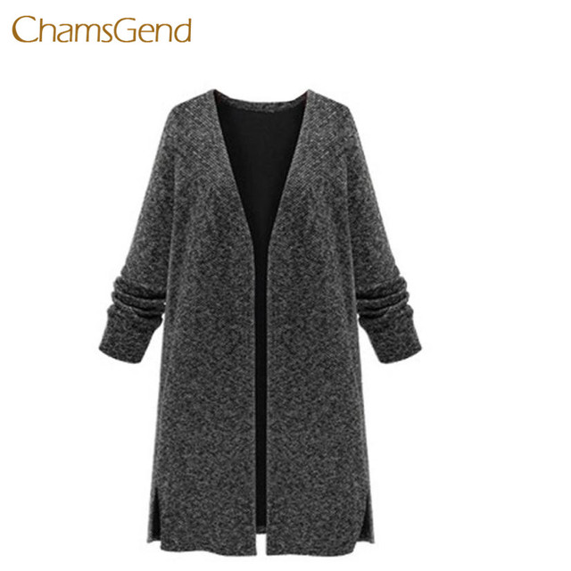2017 Autumn Winter Plus Size Black Cardigans Sweater for Woman ...