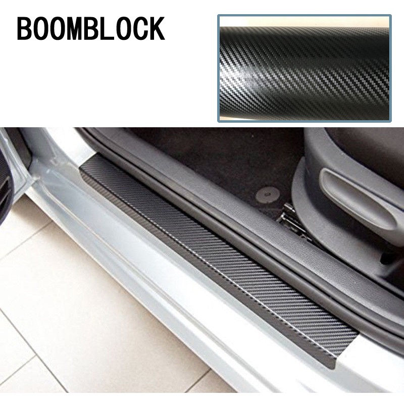 Car Styling 3D 5D Stickers For VW Polo Jetta 4 Toyota Corolla Mercedes W203 Saab Renault Dacia Door Pedal Threshold Accessories