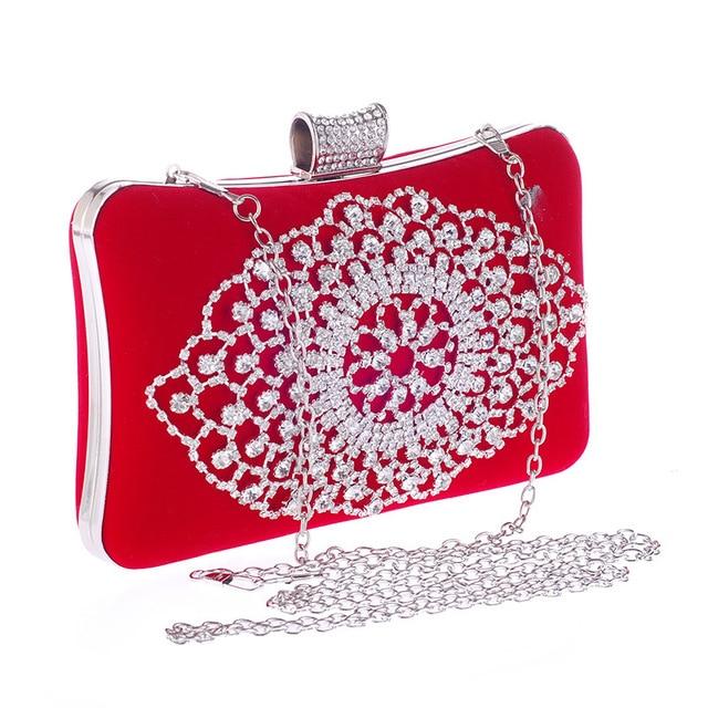 1c183000e7502 Neue ankunft frauen mode abendtaschen clutch abendtasche schwarz rot  handtaschen mit kette frauen messenger umhängetaschen