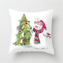 С Рождеством Христовым Елки Печатных Животных Чехлы для подушки 45x45 см Полиэстер Олень Бросьте