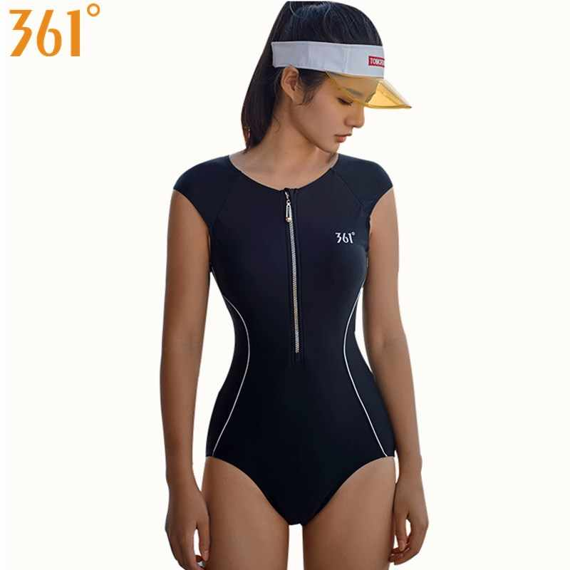 8dfa058cb3e2c 361 Women Swimsuit Black One Piece Bathing Suit Athletic Swimwear  Competition Swimming Suit Racing Bathing Suit