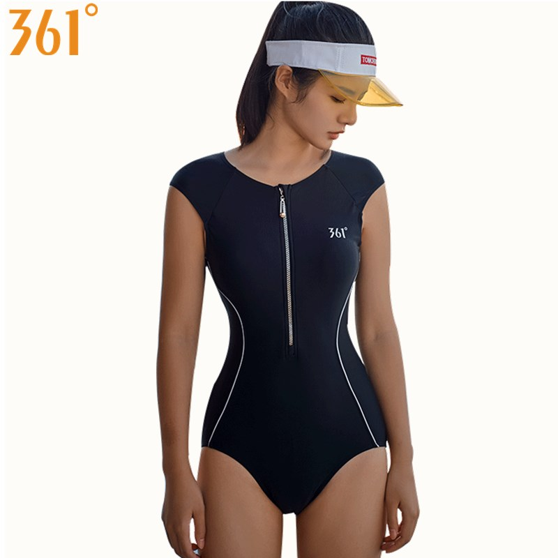 361 Women Swimsuit Black One Piece Bathing Suit Athletic Swimwear Competition Swimming Suit Racing Bathing Suit Female Swimwear(China)