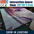 Free Shipping 12*12 Pixel Bar 50*50CM DJ Disco Party Wedding Bar Stage Lighting LED Interactive Dance Floor With Flightcase