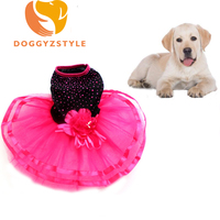 2016 Fashion Spring And Summer Pet Dress Teddy Princess Dog Dresses Flower Dresses For Dogs Suitable