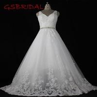 Custom Made Wedding Dresses Lace Appliques Bridal Dress Robe De Mariage High Quality A Line Wedding