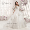 Vestidos de Noiva 2016 Vintage Wedding Dress Custom Made Ball Gown Bridal Dresses Crystal Louisvuigon Belt Corset Back Plus Size