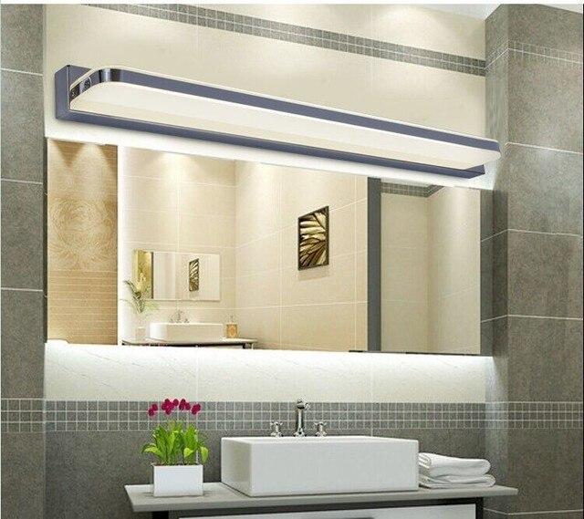 45CM-120CM Mirror light led bathroom wall lamp mirror glass waterproof anti-fog brief modern stainless steel cabinet led light