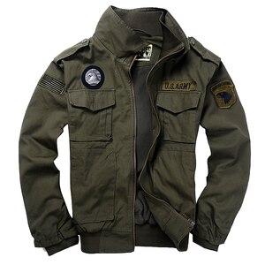 Alta qualidade de algodão estilo militar dos homens jaquetas casaco piloto eua força aérea bombardeiro jaqueta masculina casual quente 5 cores