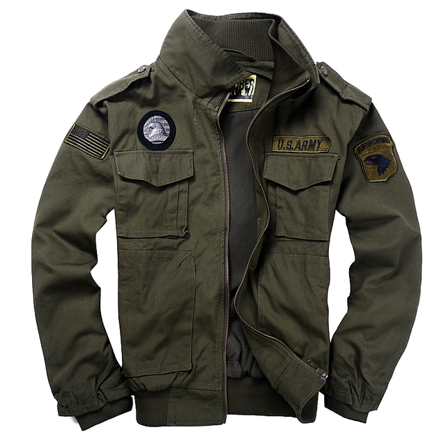 High Quality Cotton Men S Military Style Jackets Pilot Coat Usa Army