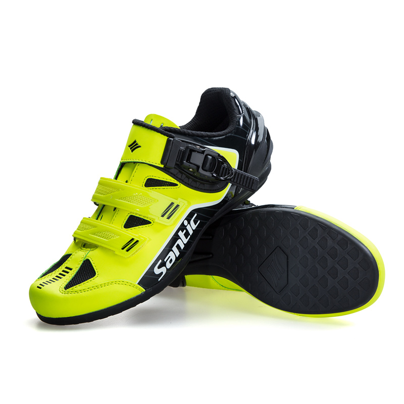 Santic Men Sports Cycling Shoes Riding Boost Power Shoes No Lock Non Slip MTB Road Bike