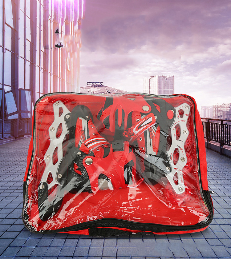 Transparent Square Roller Skates Handbag Adult Universal Skates Set Bag Roller Skates Waterproof Backpack Bag