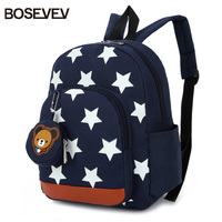 BOSEVEV Children Bags For Boys Kindergarten Nylon Children School Bags Printing Baby Girl Shcool Backpack Cute