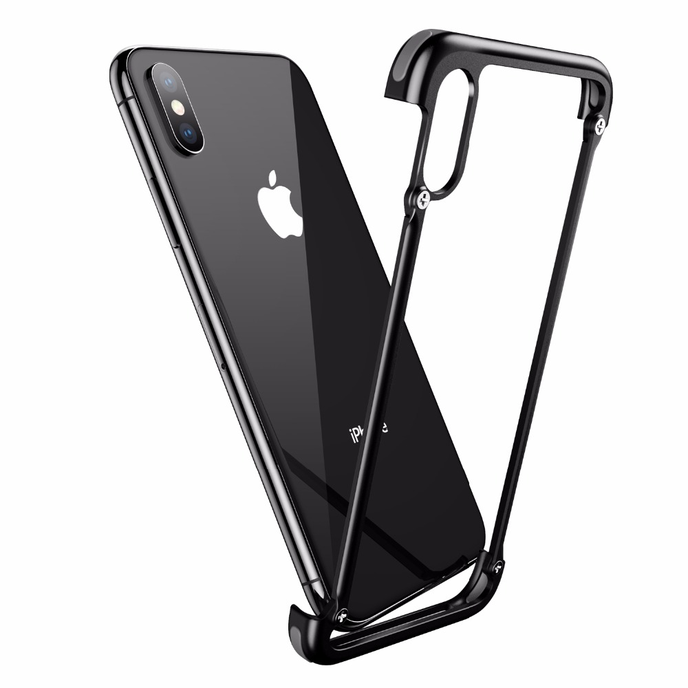 PADCOVER Original Luxury Case for IPhone X 6 6s 7 8 Plus Case for Samsung Galaxy S8 S9 Plus Case Slim Airbag Metal Phone Cover