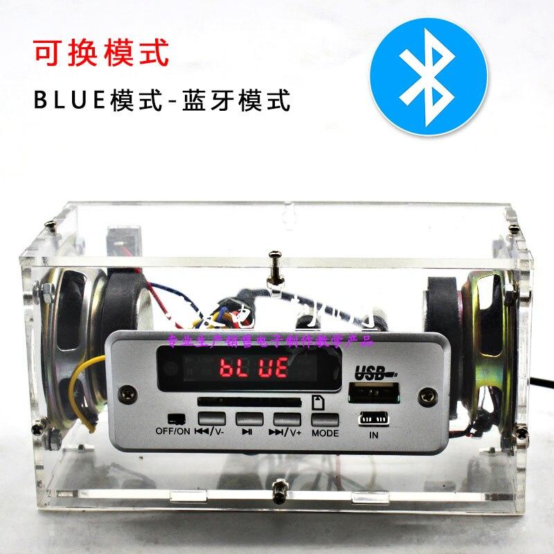 Electronic Diy Audio Amplifier DIY Kits Mp3 Bluetooth FM