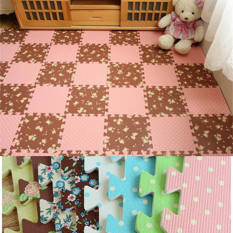 Plain Color EVA Foam Mat Children Carpet Baby Play Mat Puzzle Kids Jigsaw Mats 30X30X1cm For Bedroom Baby Gym Speelkleed