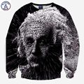 Mr.1991INC New hoodies for men 3d sweatshirts creative print great scientist Einstein casual autumn hoodies tops pullover