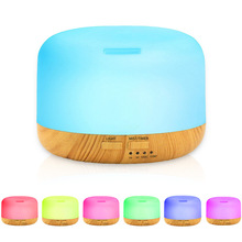 500ML Aroma Essential Oil Diffuser Ultrasonic Cool Mist Aromatherapy Humidifier with LED Lights for Home Office Aroma Diffuser
