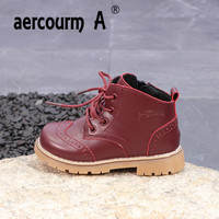 Aercourm A 2018 Children Martin Boots Boys Girls New Single Boots Children Flat Breathable Solid Color