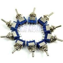 10 шт./лот 3-контактный SPDT ON-ON Мини тумблер 6A 125VAC мини-переключатели