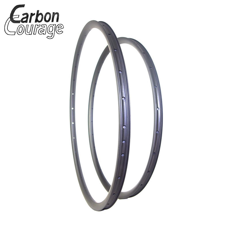 29er Offset MTB Rims Asymmetric Carbon Rim 29 Inches Rodas Mtb 29er Wheel Bike Rim 595 RED 25mm Deep UD 3K Matte Glossy 4pcs metal red beadlock wheel rim