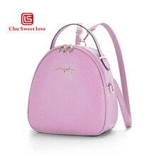 Oval ladies shoulder bag rhombic PU new style package Korean beautiful girl series backpack girlfriend best gift