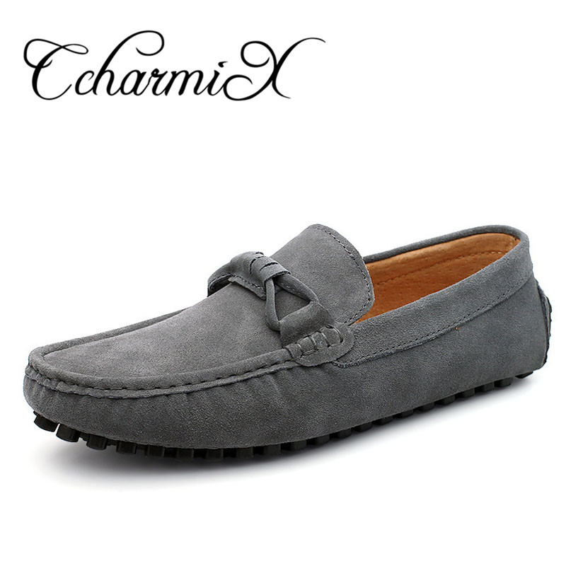 CcharmiX Brand New four Season Men Fashion Shoes Slip On Flat Men Casual Shoes Comfortable Genuine Leather Men Loafers Big Size big size 46 summer breathable mesh loafers men casual shoes genuine leather slip on brand fashion flat shoes soft comfort cool