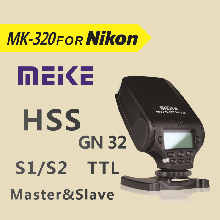 MEKE Meike MK320 TTL flash for nikon D7100 D7000 D5200 D5100 D5000 D800 D600 D90 D80 meike mk 950 mk950 ttl flash speedlite for nikon d7100 d7000 d5200 d5100 d5000 d3100 d3200 d600 d90 d80 d60