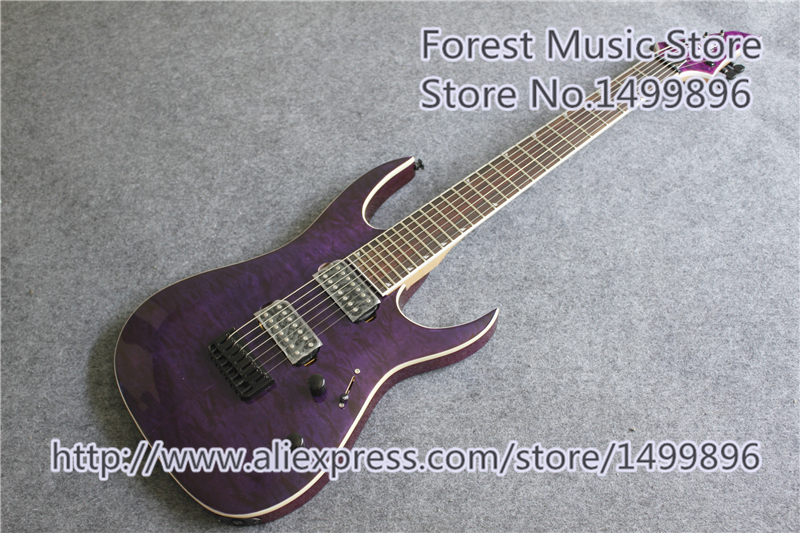 New Arrival China 7 String Jackson Electric Guitar & Purple Quilted Finish Guitar Body As Picture