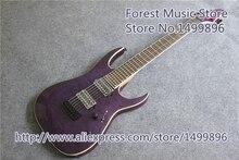 Новое поступление Китай 7 Строка Джексон электрогитара и фиолетовый стеганая отделка гитары тела как на картинке