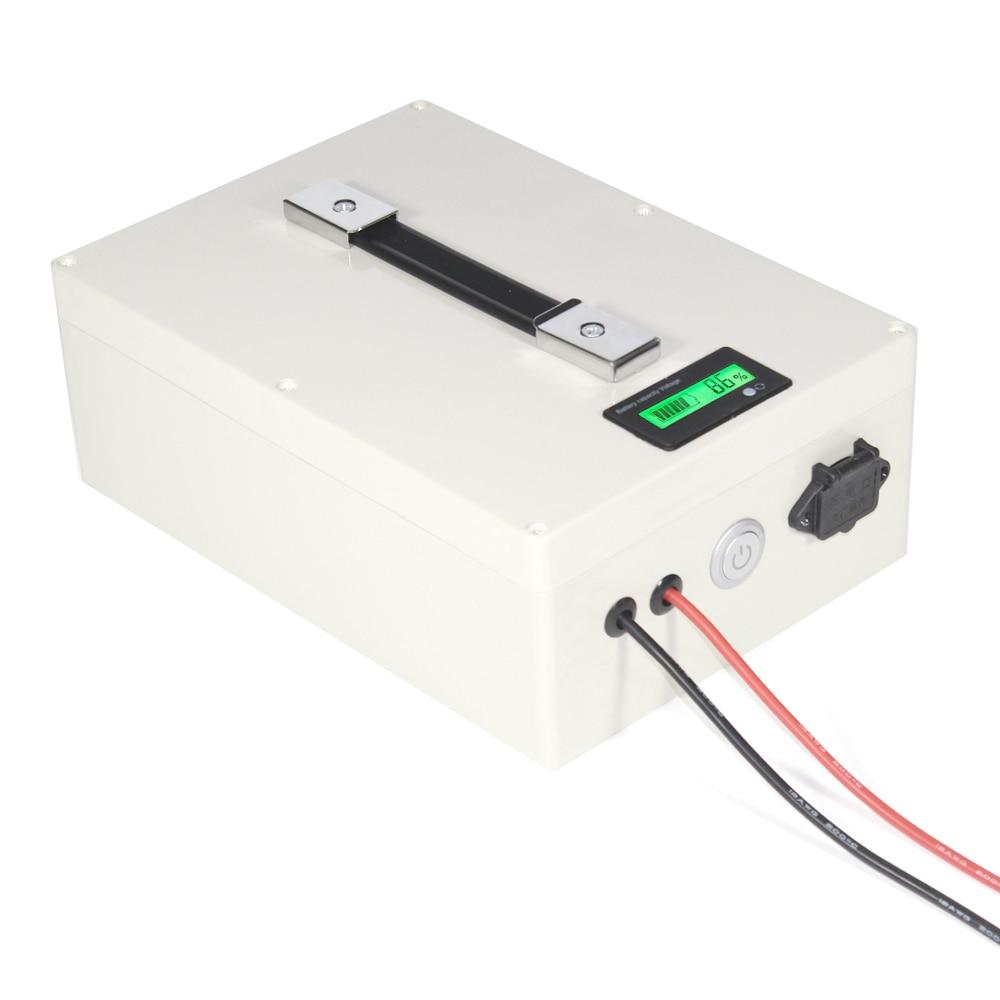 5 шт. 12,8 В 40AH LiFePO4 Батарея Портативный коробка с BMS и Зарядное устройство