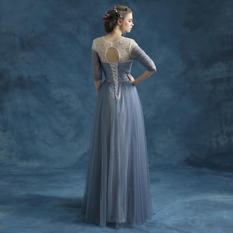 SOCCI Weekend Regular Sleeve Draped Evening Dresses Sweetheart Pleated Top  Long robe de soiree Vestido Beading O neck Prom Dress-in Evening Dresses  from ... f7e9489e4b6f