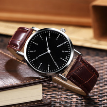 KINGNUOS New Fashion Casual Leather Wrist Watch Men 2017 Top Brand Luxury Male Clock Quartz Watches Hodinky Relogio Masculino men watches eyki brand luxury waterproof genuine leather quartz watch classic independent seconds fashion casual watches hodinky