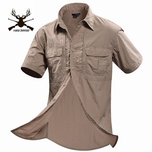 Image 4 - MEGE Summer Men Shirt Military Men Short Sleeve Shirt Casual Shirt Mens Brand Social Clothing Chemise Homme Camisa Masculina 2XL